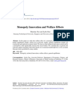 Monopoly Innovation and Welfare Effects