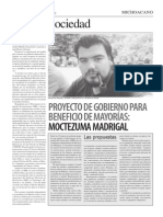 Nota Publicada en El Michoacano No 16