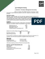2011 Absorption Costing v Marginal Costing