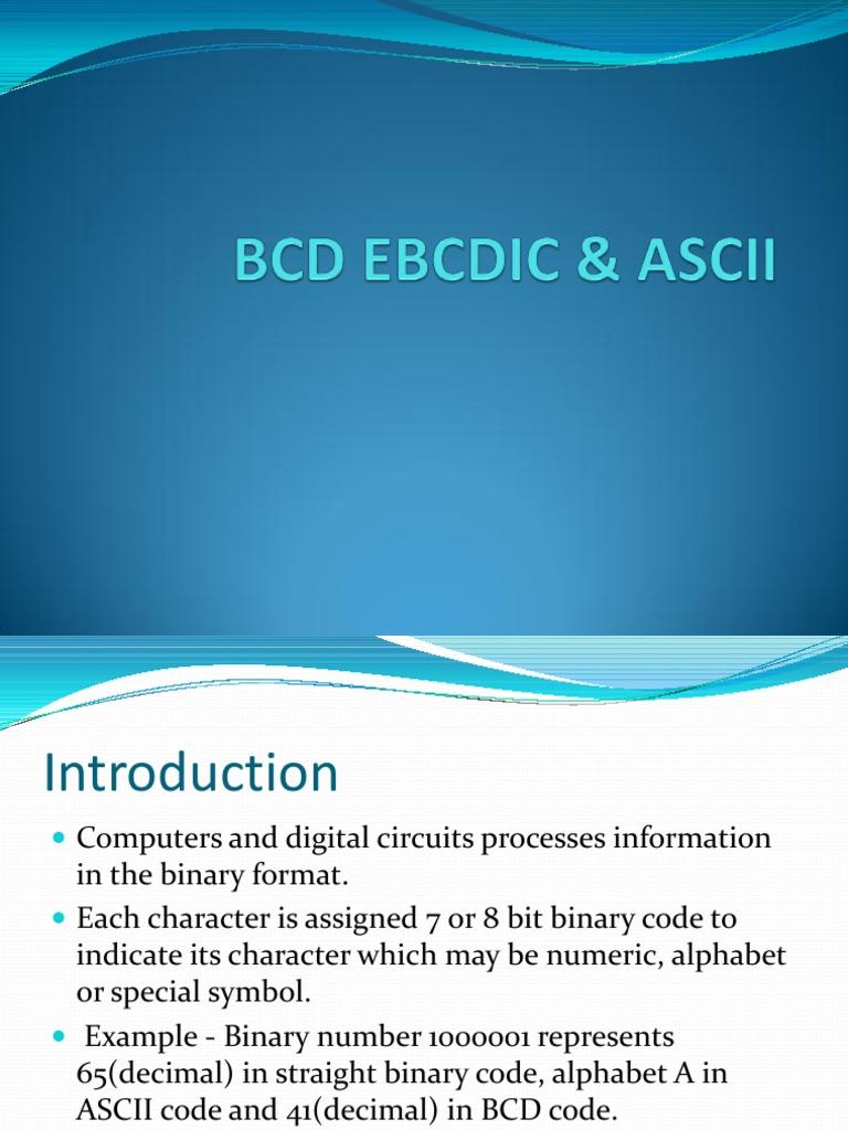 BCD EBCDIC & ASCII | Binary Coded Decimal | Ebcdic