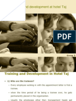 Training and Development at Taj Hotels