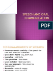 Speech and Oral Communication