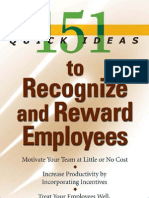 151 Quick Ideas to Recognize and Reward Employees