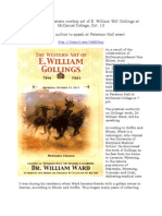Lecture on the western cowboy art of E. William 'Bill' Gollings at McDaniel College, Oct. 13