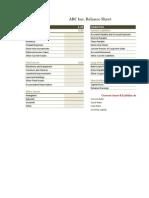 Flexible Balance Sheet (Online)
