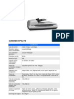 Sp+®cifications scanner hp 8270