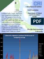 Encuesta para el informe 'La diáspora cubana en el siglo XXI'