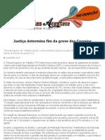 Justiça determina fim da greve dos Correios