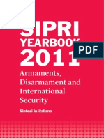 Sintesi in Italiano del SIPRI Yearbook 2011