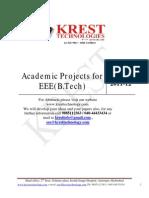 2011-12 BTech Project List