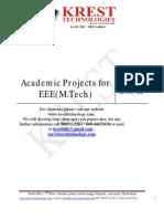 2011-12 MTech Project List