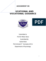 Educational and Vocational Guidance