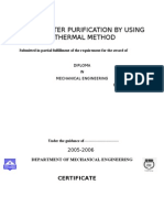 (##)Solar Water Purification by Using Thermal Method