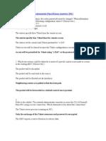 CCNA Netowork Fundamentals Final Exam Answers 2011