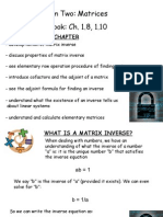 Matrices - Ch. 1.8, 1.10