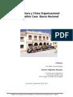ICultura y Clima Organizacional Banco Nacional