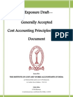 40 9899 Exposure Draft Generally Accepted Cost Accounting Principles Gacap Document