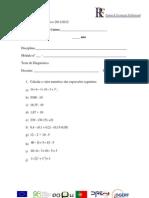 Teste Diagnostico Matematica CEF