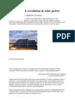 The Nanotech Revolution in Solar