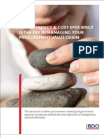 Transparency & Cost Efficiency is the Key in Managing Your Procurement Value Chain[1]