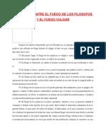 DIFERENCIA ENTRE EL FUEGO DE LOS FILOSOFOS Y EL FUEGO VULGAR