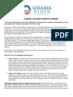 Barack Obama & Joe Biden's Plan for Tackling Domestic Hunger