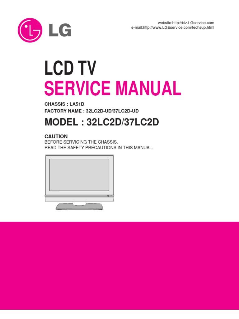 lg 37lc2d lcd tv service manual 1 soldering electrostatics rh scribd com