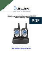 ALAN777-Bedienungsanleitung