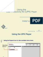 Using the Upk Player