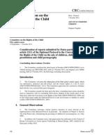 FNs barnrättskommittés slutsatser om tillägsprotokollet