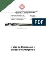 Vias de Circulacion-salidas de emergencia-señalizacion en obras