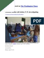 Washington Times-somalia Famine