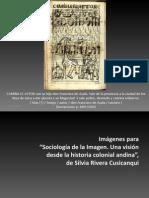 Ilustraciones de Guaman Poma en Libro de Silvia Rivera C.