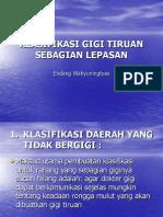 Klasifikasi Gigi Tiruan Sebagian Lepasan