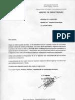 Courrier Mairie Parents et Règlement Cantine Écoles Montignac 2011-2012