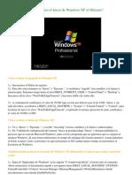 Como acelerar el Inicio de Windows XP al Máximo