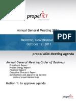 2011 Propel AGM Presentation