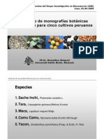 Desarrollo de monografías botánicas para cinco cultivos peruanos