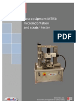 Micro-indentation and Scratch Tester MTR3 MICROTEST