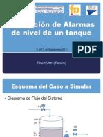 Simulación de Alarmas de nivel de un tanque