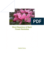 Short Repertory of Bach Flower Remedies