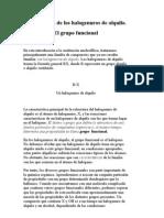3 Estructura de Los Halogenuros de Alquilo