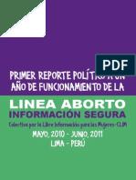 PrimerReporte LINEABORTOINFOSEGURA Perú