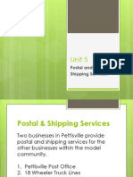 Unit 5 Postal and Shipping Services Presentation