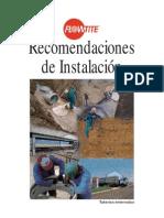 Recomendaciones de Instalacion tuberías