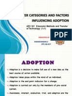 Adopter Categories and Factors Influencing Adoption