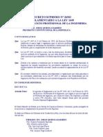 DECRETO SUPREMO Nº 26582