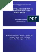 La investigación científica y la importancia de su publicación