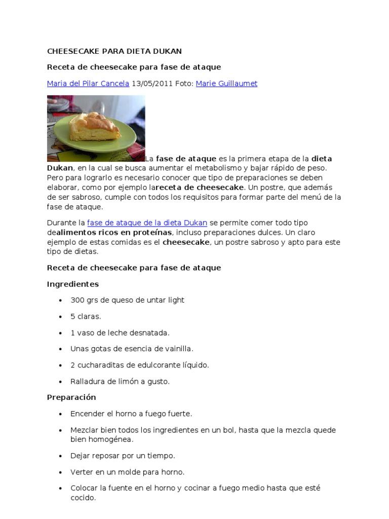 Ejemplo dieta dukane