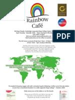 Rainbow Cafe Menu 2009